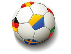 国旗组成的足球矢量素材