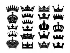 皇冠剪影矢量素材(2)