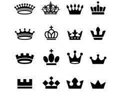 皇冠剪影矢量素材(10)