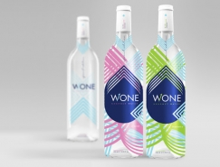 优雅的线条和配色:WONE纯净水包装设计