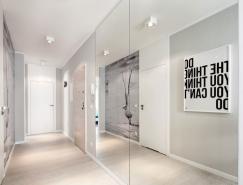 优雅的蓝白双色打造的84平极简风格公寓设计