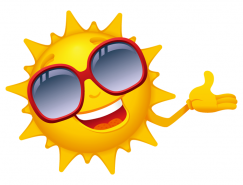 带墨镜的卡通太阳矢量素材