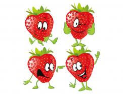 卡通草莓矢量素材