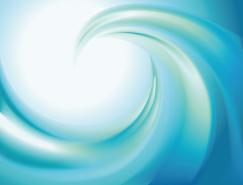 蓝色漩涡抽象背景矢量素材