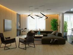 家装设计欣赏:木质板条带来的质感纹理和温暖感觉