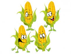 卡通玉米矢量素材