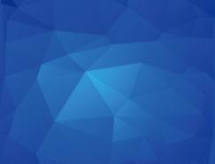 蓝色三角形立体背景矢量素材