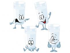 有趣的卡通玻璃杯矢量素材