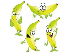 可爱卡通香蕉矢量素材