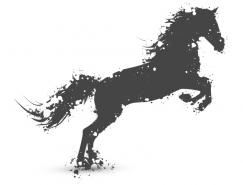 奔跑的马矢量素材
