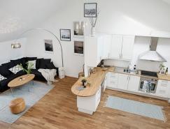 哥德堡舒适优雅的北欧纯白公寓设计