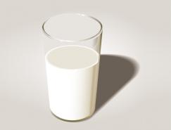 牛奶玻璃杯矢量素材