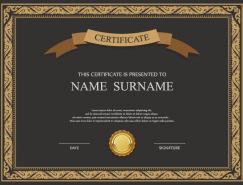 精致的认证和证书模板矢量素材(1)
