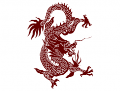 红色中国龙矢量素材