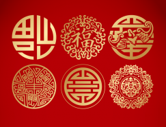 中國傳統圖案花紋矢量素材