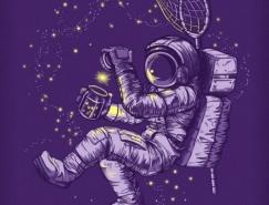 超有想象力的宇航员插画欣赏