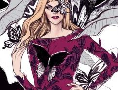 Soleil Ignacio手绘时尚女孩插画欣赏