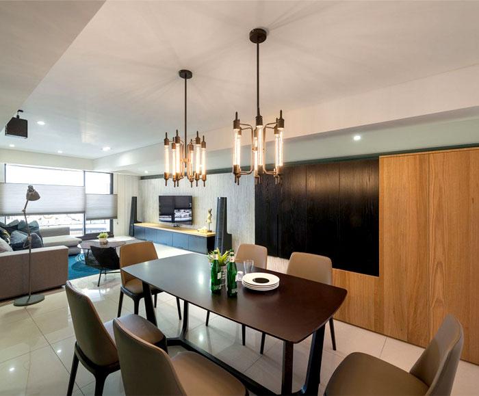 工业元素和现代设计结合:时尚简约住宅设计