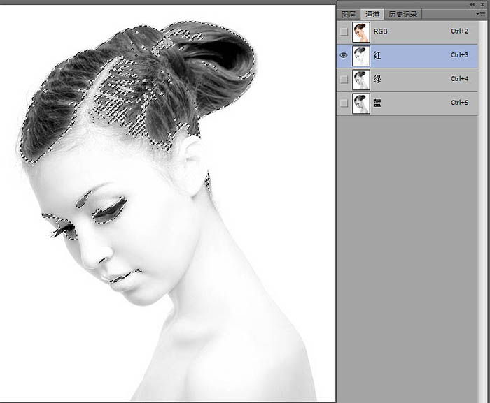 Photoshop给美女加上超酷的火焰碎片效果