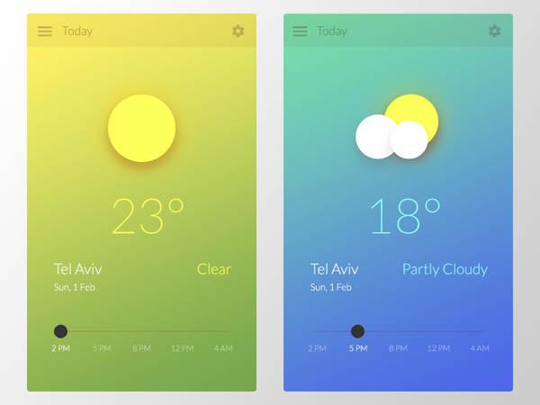 50个天气移动应用UI界面设计
