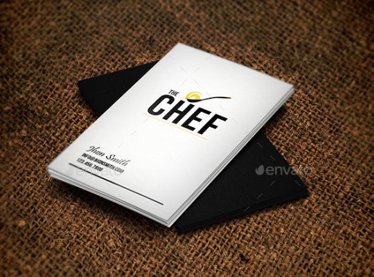 30款国外厨师名片设计(2)
