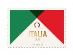 Duane Dalton極簡扁平化風格郵票圖案設計