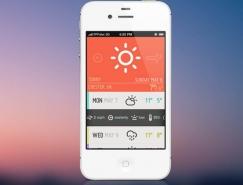 50個天氣移動應用UI界麵設計