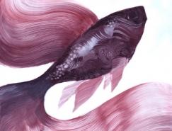 细腻的肌理和色彩变化:Adam S.Doyle动物绘画作品