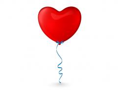 红色爱心气球矢量素材