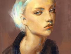 Emanuel Mardsjo女性肖像插画欣赏