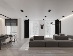 大气极简的乌克兰190平米AB1住宅设计