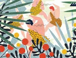 鲜艳的色彩和纹理:Martyna Wójcik-Śmierska插画作品欣