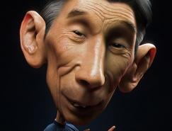 18个幽默3D角色和肖像插画设计
