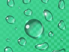 透明水滴矢量素材(4)