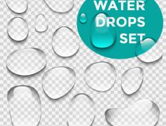 清澈透明的水滴矢量素材