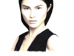 Nabil Nezzar女性肖像插画欣赏