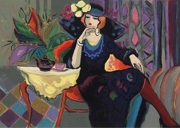 大胆鲜艳的色彩:Isaac Maimon人物绘画作品欣赏