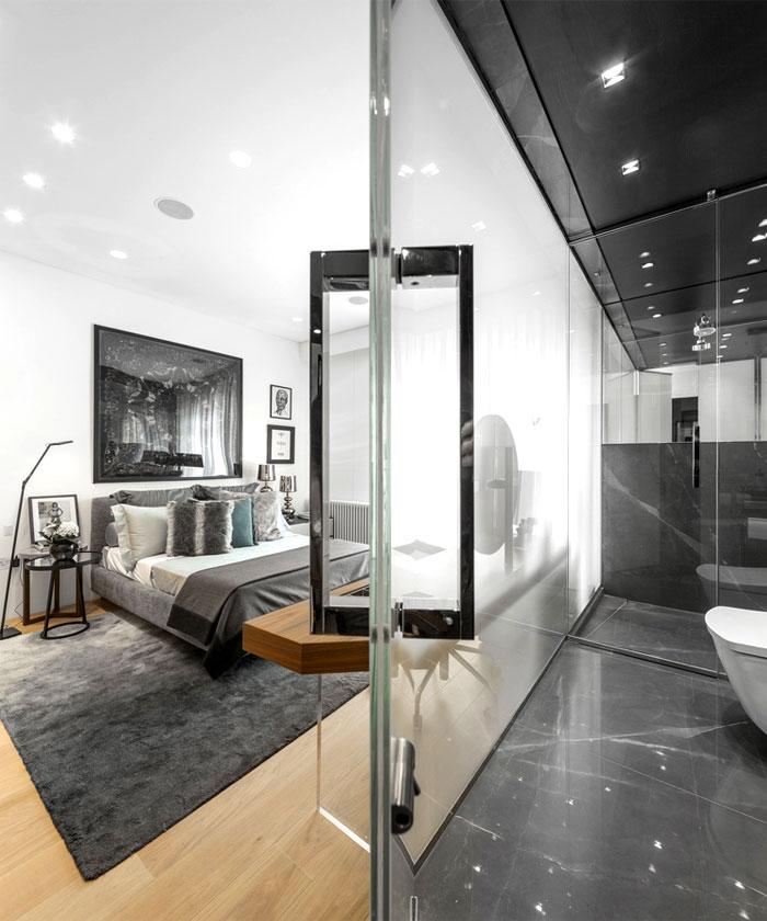 伦敦清新优雅的复式住宅设计