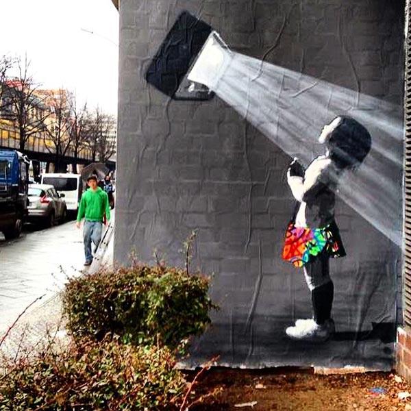 24个创意街头艺术作品欣赏(2) - 设计之家