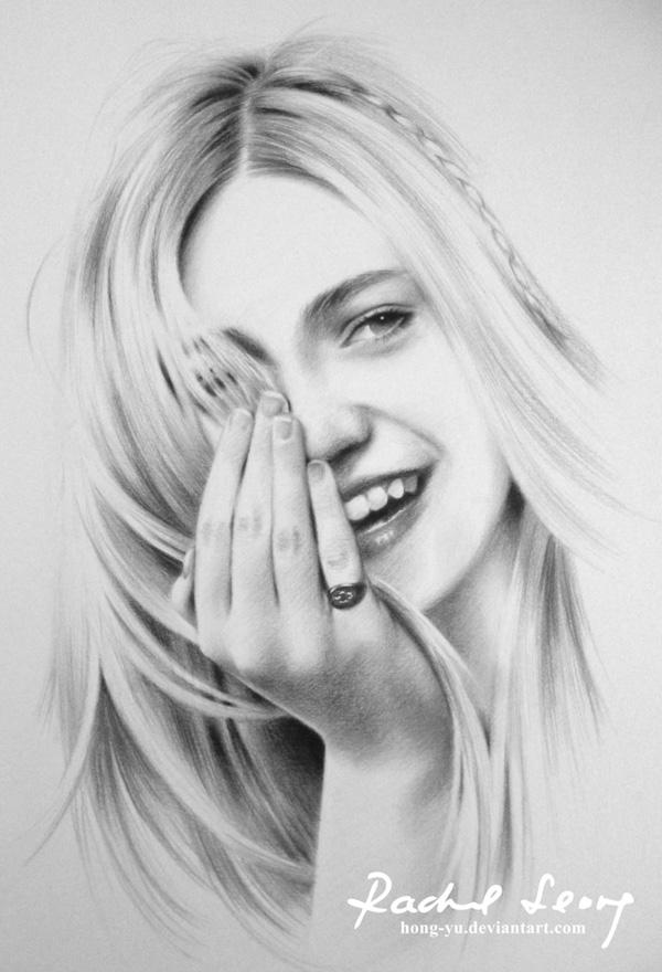 leong hong yu精美的铅笔素描肖像画欣赏(2)