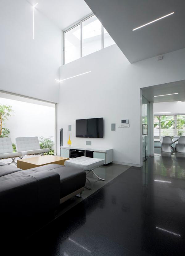 狂野外觀下極簡裝修風格的別墅設計