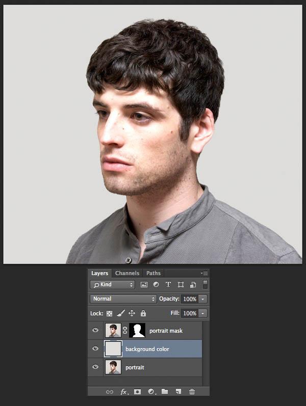 Ps教程:二次曝光头像制作