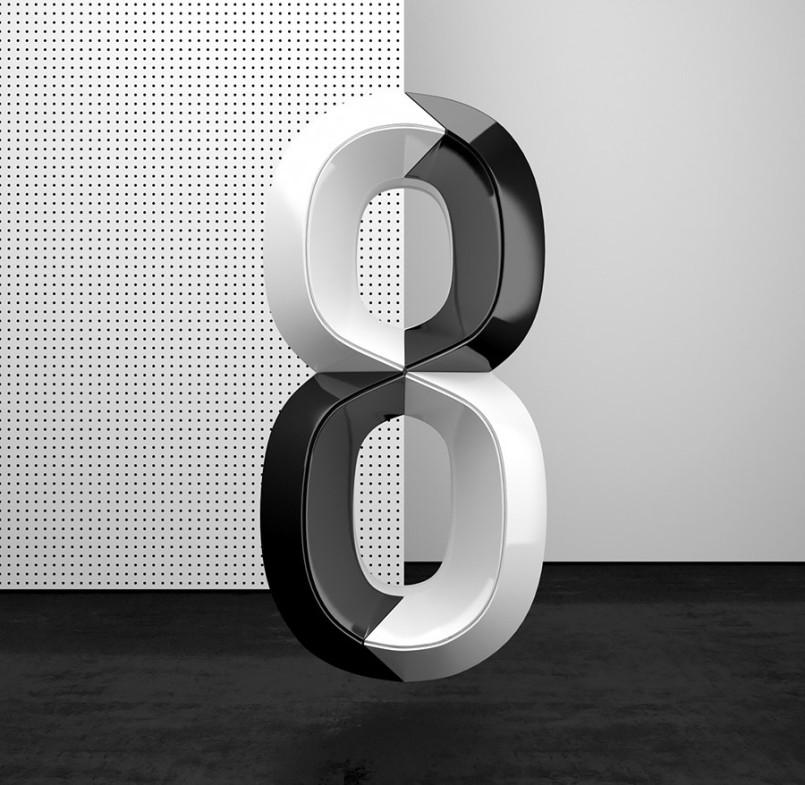 Muokkaa Studio彩色立体数字设计