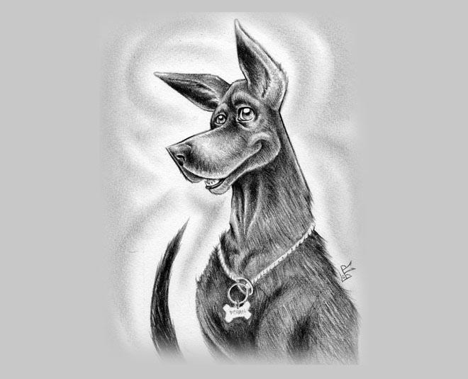 30个可爱狗狗绘画作品欣赏(2)