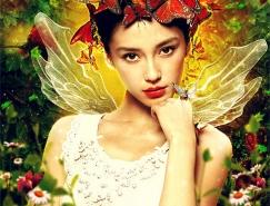 Photoshop合成梦幻唯美的丛林蝶仙子教程