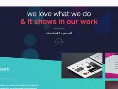 简约精美的斜角效果网站设计欣赏