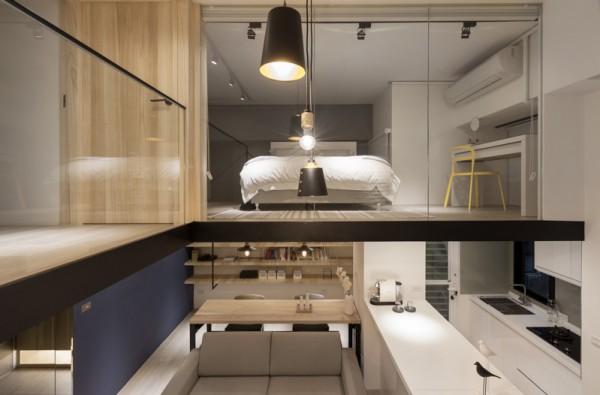 现代时尚的阁楼公寓设计(2)