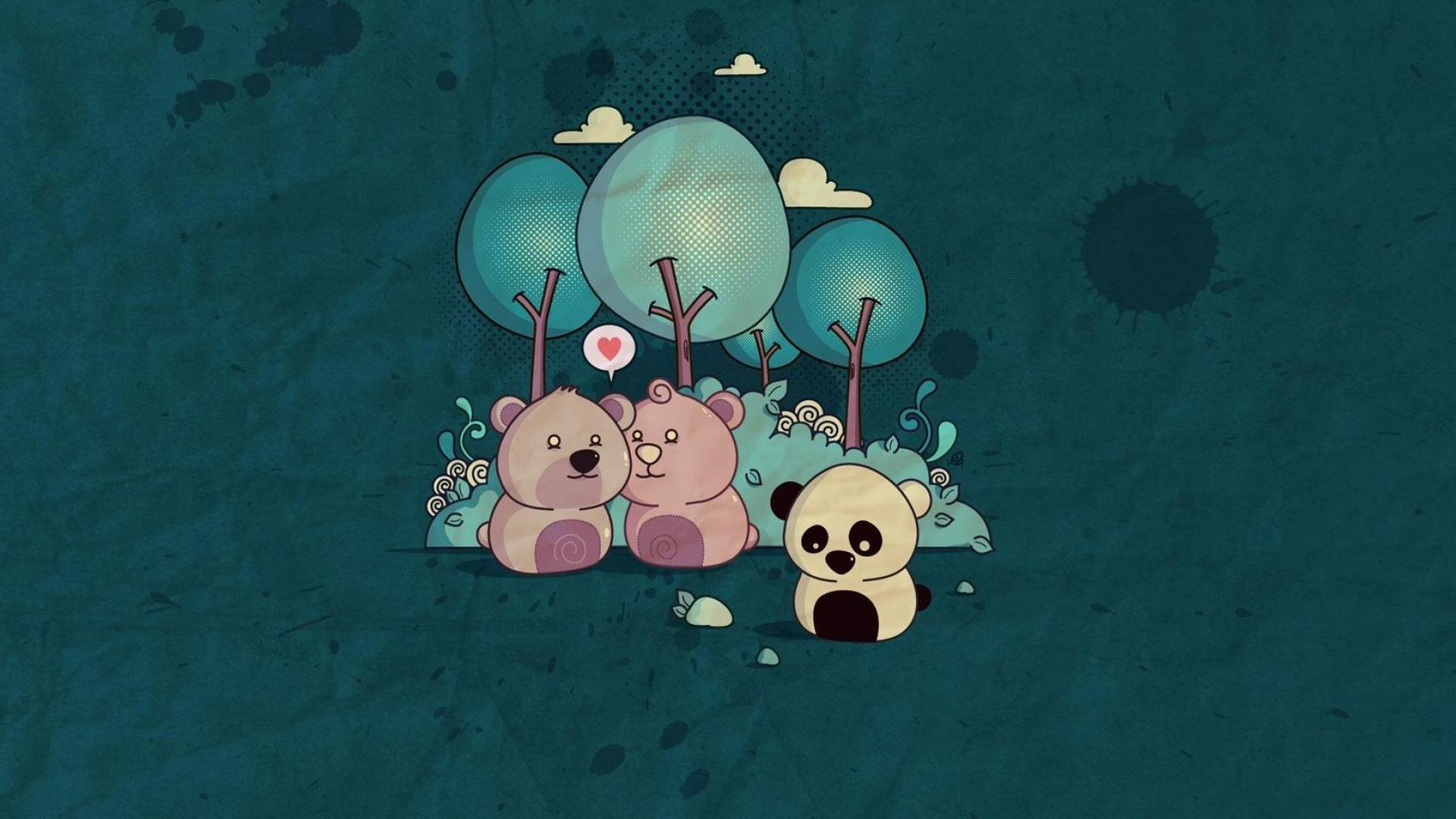 20张可爱熊猫桌面壁纸