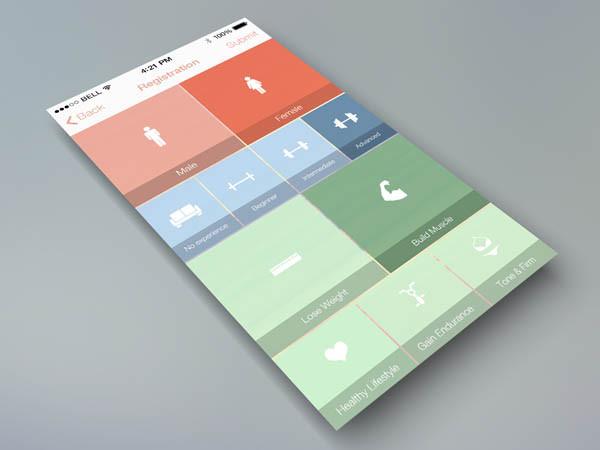 30个健身APP界面UI设计
