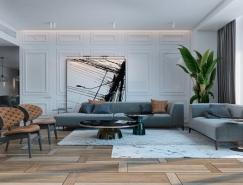 柔和的色调:迈阿密现代公寓设